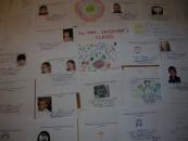 Prace prezentujące sylwetki uczniów SP 203