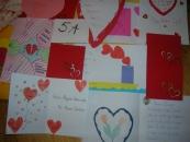 Kartki z okazji Walentynek wykonane dla amerykańskich kolegów